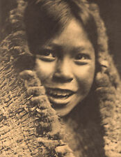 "EDWARD CURTIS Indian Tribe ""CLAYOQUOT GIRL"" Vintage Native American Photo Print"