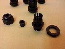 Lot de 5 presse étoupe noir étanche PG9 pour câble de 4 à 8mm, perçage de 16mm