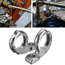 1'' Turn Signal HandleBar Clamp On Mirrors Adapter Mount ATV Motorcycle Scooter