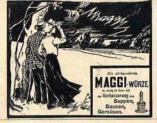 MAGGI - WÜRZE ... ist einzig in ihrer Art Historische Annonce 1902