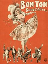 THEATRE STAGE BON TON BURLESQUE MUSIC ART POSTER PRINT LV3949
