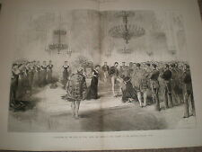 King Umberto I of Italy receives Order of the Garter Quirinal Palace Rome 1878