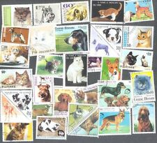 Cats & Dogs 300 all differents stamp collection -Pets
