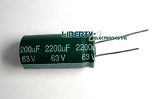 NEW 2200 uF 63V ELECTROLYTIC CAPACITOR 35x18mm