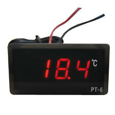 LED rosso DC 12V -50 ℃ ~ 110 ℃ LED Termometro digitale Temperature Detector Hot