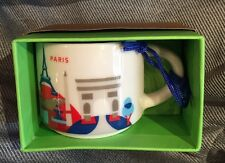 Starbucks Paris France Mug YAH Ornament Demi You Are Here Christmas Coffee Cup