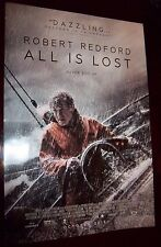 All Is Lost Robert Redford Original Movie Promotional Poster 13x20 Size NEW