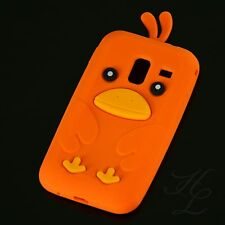 Samsung Galaxy Ace Plus S7500 Silikon Case Schutz Hülle Etui Chicken Orange 3D