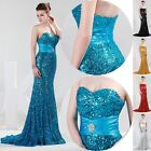 GRACE KARIN Sequins Mermaid Wedding Evening Maxi Party Prom Bridesmaid Dresses
