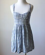 Abercrombie & Fitch Hollister Plaid Checkered Gingham Corset Fit Flare Dress XS