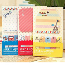 New Cartoon Memo 1+5 Sticker Paste Bookmark Point Marker Flag Sticky Notes EF