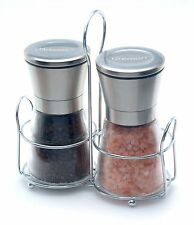 Dremun Premium Salt & Pepper Grinder Set With Table Stand, Adjustable Coarseness