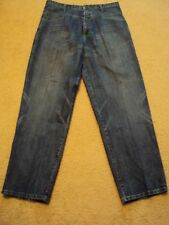 Very Nice Marithe Francois Girbaud Mens Loose Fit Jean with Green Thread - 38x37