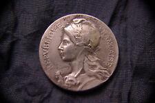 Médaille MARIANNE, REPUBLIQUE FRANCAISE, de Félix RAZUMNY, Bronze Argenté