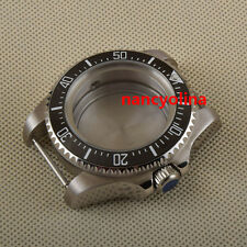 44mm sapphire glass black ceramic bezel Watch Case Fit ETA 2824 2836 Movement 05