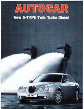 Jaguar s-type 2.7 d V6 se & sport essai routier 2004-05 uk market brochure autocar
