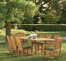 """Devon 9pc Dining Set: 94"""" Mas Oval Table 8 Chairs Grade-A Teak Wood OutdoorPatio"""