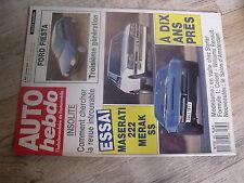 $$t Revue Auto Hebdo N°662 Maserati 222  Merak SS  F1 Coloni  Williams  Ford