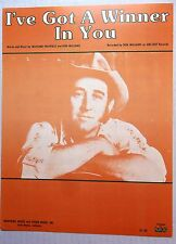 DON WILLIAMS Sheet Music I'VE GOT A WINNER IN YOU Big 3 Publ. 70's COUNTRY
