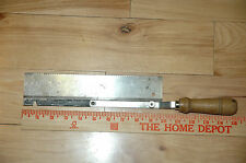 Vintage Antique Disston or Seit Reversible Dove Tail Saw Mitre Cuts 10""