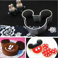 Metal Mickey Mouse Shaped Cookie Pastry Dessert Cake Cutter Baking Mould Mold KC