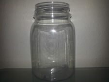 12 16 OZ Clear Plastic Mason Jars Cup Wedding Favors Canning BPA FREE!