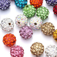 20 Quantity Czech Crystal Rhinestones Pave Clay Round Disco Ball Spacer Beads