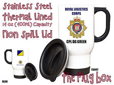 Royal Logistic Corps RLC Personalised Thermal Travel Mug.(MT027)