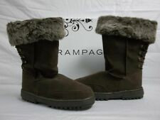 Rampage Size 5 M Astrid Brown Faux Fur Ankle Boots New Womens Shoes