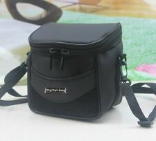 portable Digital Camera Case DV Cover Leather DC Bag Pouch CHAIN For CANON