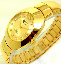 055P OMAX Men's Luxury Dress Wrist Watch Vantage Style Gold Strap Dial Quartz