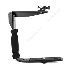 Quick Flip Flash Bracket Grip Camera Flash Arm Holder Stand for Nikon Canon DSLR
