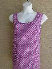 New Ellos Cotton Scoop Neck Tank Top  Purple & White Floral L