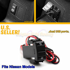 FITS NISSAN 350Z/370Z/SENTRA/TITAN 2-PORTS 2.0A USB POWER SOURCE 12V DIRECT PLUG
