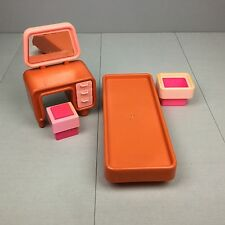 Vintage 1977 BARBIE DREAM HOUSE BEDROOM FURNITURE LOT 1970s Bed Vanity