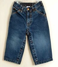 babyGAP Size 18-24 Months Boys Blue Front Zipper Snap Crotch Denim Jeans