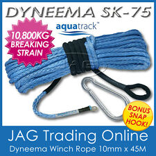 45M x 10mm H/DUTY DYNEEMA SYNTHETIC WINCH ROPE-4x4/ATV/SUV Recovery Snatch Strap