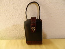 BRIGHTON  BLACK & BROWN LEATHER CELLPHONE CASE USED