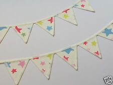 PAIR OF CATH KIDSTON FABRIC MINI BUNTING CURTAIN TIE BACKS: Shooting Stars Only