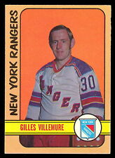1972 73 OPC O PEE CHEE 132 GILLES VILLEMURE EX-NM N Y NEW YORK RANGERS HOCK CARD