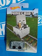 Hot Wheels 2016 MINECRAFT Minecart Special Release Board SKELETON Target Excl