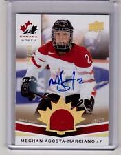 MEGHAN AGOSTA-MARCIANO 14/15 Upper Deck Team Canada Juniors Auto Autograph Patch