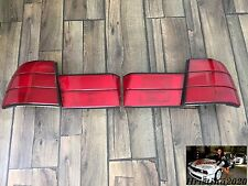 BMW E34 Sedan OEM HELLA Rear EURO Tail Lights Full  Set  All Red Tinted