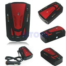 New Car 360 Degree Speed Limited Detection Voice Alert Anti Radar Detector Red
