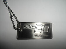 Nike Go Dogtag Necklace Brand New in Bag!!  NikeGo.com PROMO NIKE SAMPLE JORDAN