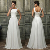 White Bridal Bridesmaid Prom Wedding Evening Party Ball Gown COCKTAIL Dresses