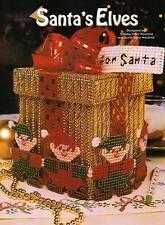 SANTA'S ELVES CHRISTMAS BOX PLASTIC CANVAS PATTERN INSTRUCTIONS