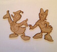 Wooden Donald And Daisy Mdf Decoration Blank Shape