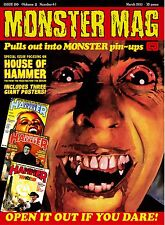 SALE ENDS SUNDAY Monster Mag 20 - House of Hammer poster special!