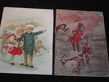 Antique EARLY CHILDREN'S BOOK COVER & Illustration, circa 1880-90s. Frameable